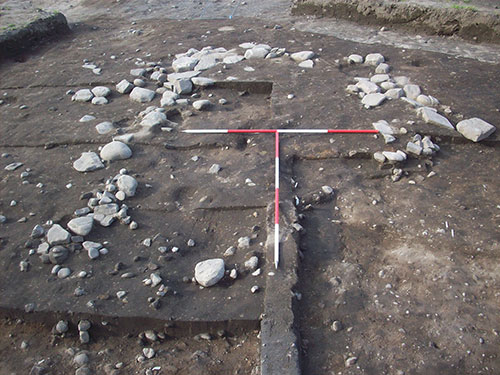Shallow foundations of what is probably a Pictish building