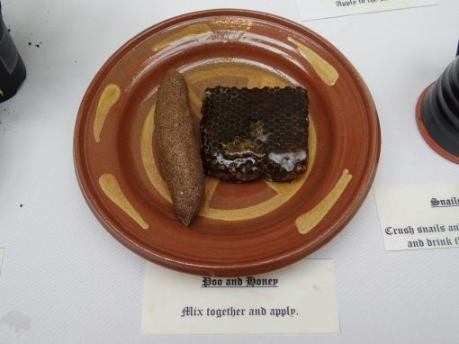 A 16th century cure of poo and honey for toothache, part of Royal Rumblings! summer activities at National Museum of Rural Life, East Kilbride.
