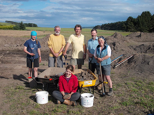 The excavation team in 2012