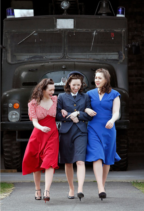Alyson Orme modelling 1940s fashion for Wartime Experience, National Museum of Flight on Sunday 12 May 2013