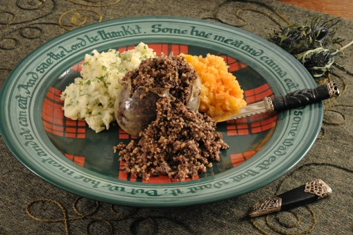 Traditional haggis will be demonstrated by Wendy Barrie for Burns Unbound