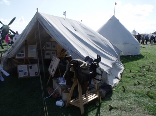 Lancashire Hussars, First World War Cavalry re-enactment troop tent