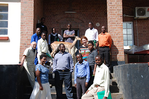The Museums of Malawi and National Museums Scotland staff at the end of the workshops