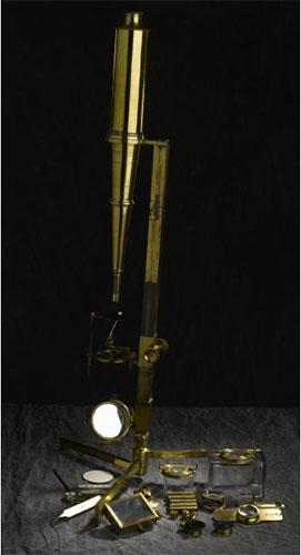 Polarising microscope. 1823-1829