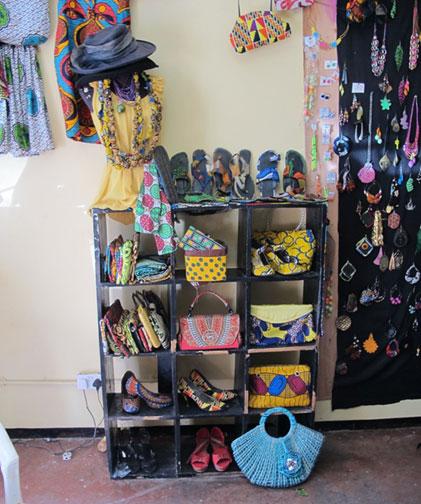 Eva Gertrude Kapanda chitenje designs, Blantyre, April 2014