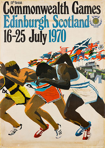 Official poster for the IXth Commonwealth Games