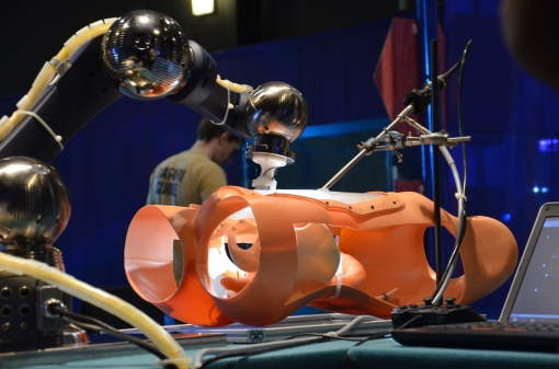 STIFF-FLOP robotic surgical system will be demonstrated at Robots Live! on Sunday 15 June at National Museum of Flight, East Fortune.