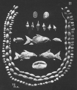 Five gold catfish pendants found in the burial at Harageh