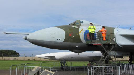 Vulcan being cleaned at National Museum of Flight